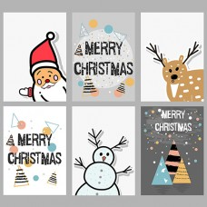 Merry Christmas Holiday card Images Wallpaper Template-ART02