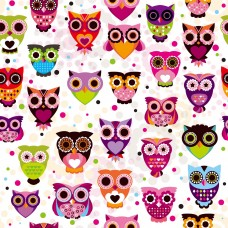 Owl Clip Art Digital Clip Art Seamless Background Images Invitation Cards Images Wallpaper Vector Graphics Design-DW05