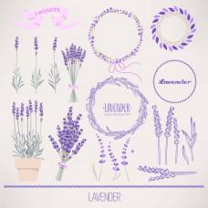 Purple Lavender Flower Floral Wedding Clip Art Digital Clip Art Invitation Cards Images Wallpaper Vector Graphics Design-HUA03