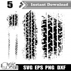 Tire Tracks SVG,Tire Tracks Clipart vector,Tire Marks svg,Car Tire Teads svg,Motorcycle Tire Svg,Tire Tracks silhouette Cricut cut file PNG DXF-JY146