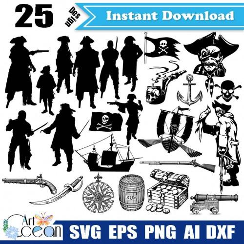 Pirate Clip Art Pirate Download Pirate Svg Dxf Png Pirate Cricut Svg Pirate Dxf Cut File Pirate Files For Cricut