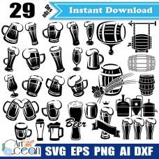 Beer mug svg,cask beer svg,beer svg,beer cup svg,wheat svg,beer mug clipart png sihouette cut file cricut stencil file dxf-JY336