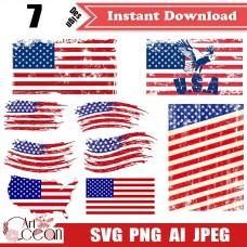 American flag svg,flag svg,american flag Clipart vector logo images cricut png-JY337