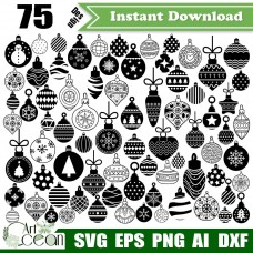 Christmas Balls svg clipart,christmas decorations svg,christmas ornaments svg,Xmas svg,Christmas balls png sihouette cut file cricut dxf-JY456
