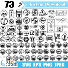 Travel stamps svg clipart,Postmark svg,Passport stamps svg,Travel stamps vector silhouette cut file cricut stencil file png dxf-JY471