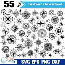 Compass svg,Compass clipart,Travel svg,wine direction,navigate svg,nautical compass svg,Compass silhouette cut file cricut png dxf-JY526