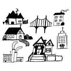 House Shop factory Bridge black White Graphics Design-JY59