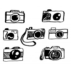 Camera black White Graphics Design-JY60