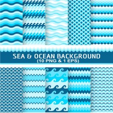 Sea Ocean Theme Seamless Background Design Digital Paper Wallpaper Scrapbook Paper Background Images-SM12